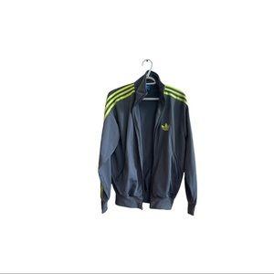 Adidas Grey Neon men's activewear jacket